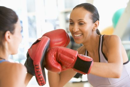 Frauen Boxen Fitness Training